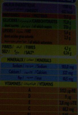 Phosphatine lactee mais&riz - Informations nutritionnelles - en