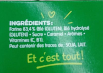 BLEDINA BLEDINE Saveur Briochée 400g Dès 8 Mois - Ingredientes - fr