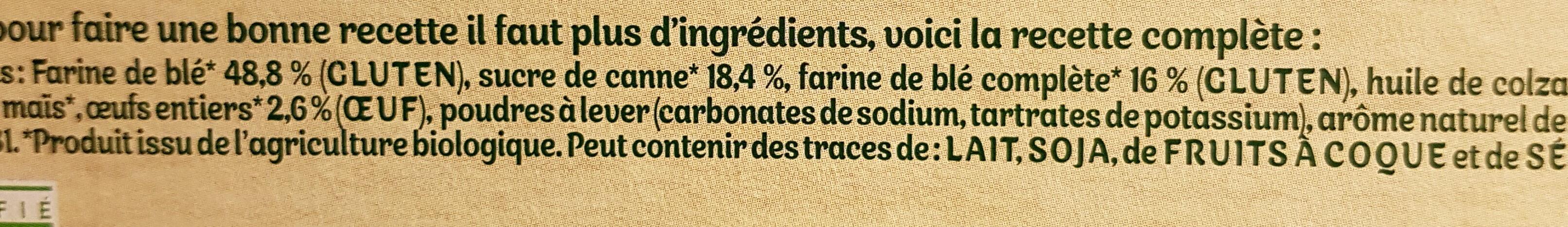 Mon 1er biscuit - Ingrédients - fr
