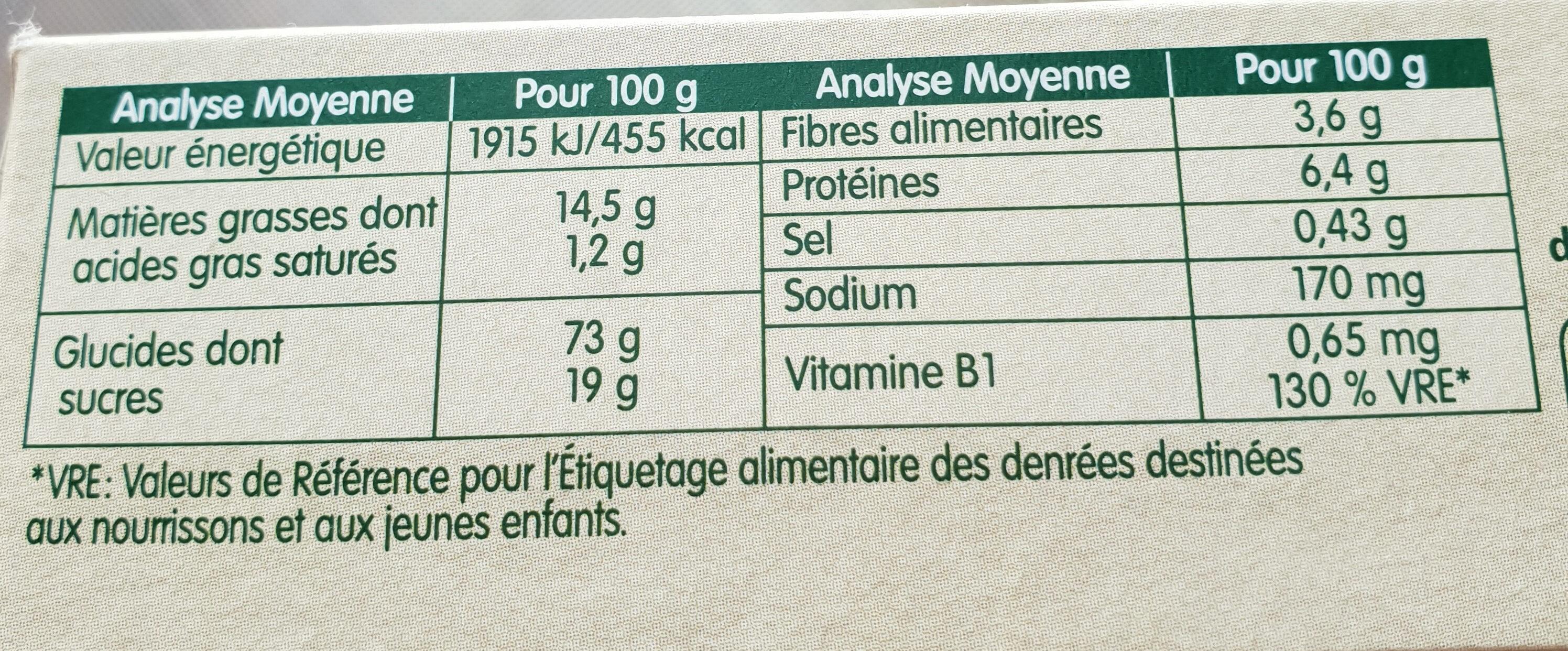 Mon 1er biscuit - Informations nutritionnelles - fr