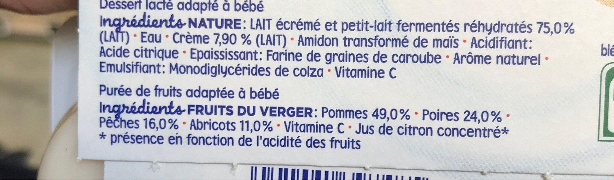 Mini lactés et purée de fruits - Ingrediënten - fr