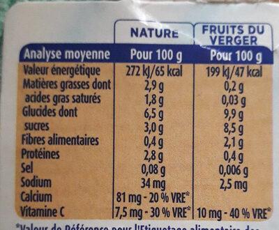Mini lactés et purée de fruits - Voedingswaarden - fr