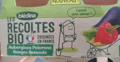 Bledina aubergines poivrons rouges semoule - Produit - fr