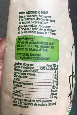 Pates Anneli - Nutrition facts