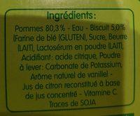 pommes biscuit - Ingrédients - fr