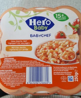 Baby chef Petites pates, tomates et Dinde - Product