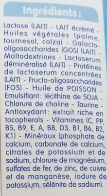 Lait de Croissance - Ingrédients - fr