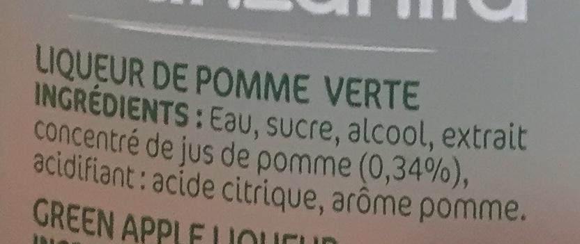 Manzanita - Ingredienti - fr