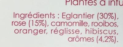 Sensation Florale Églantier, Pétales de Rose, Touche de Réglisse - Ingredients
