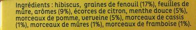 La Tisanière - Ingrédients