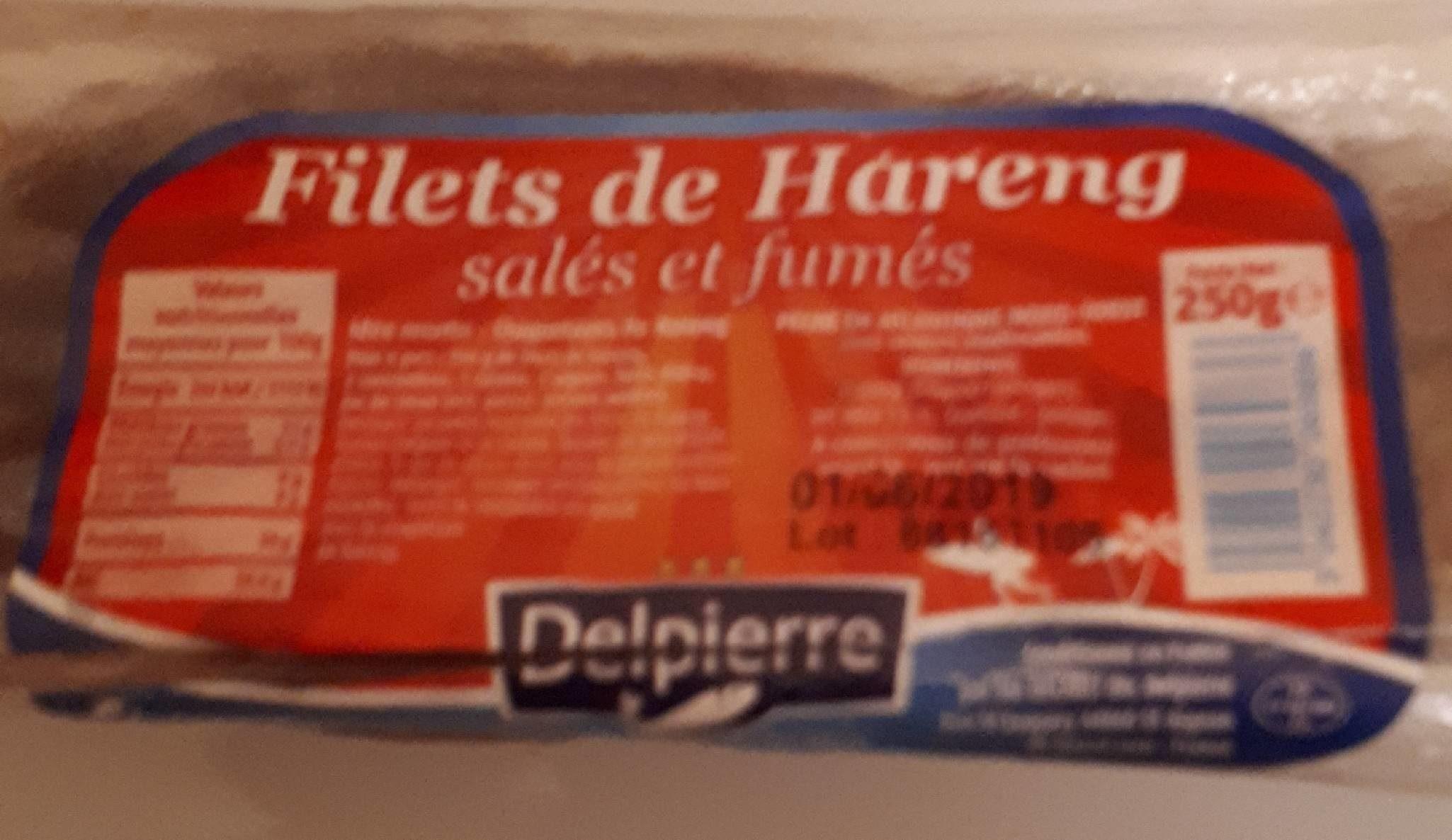 Filets de Hareng salés et fumés - Produit - fr