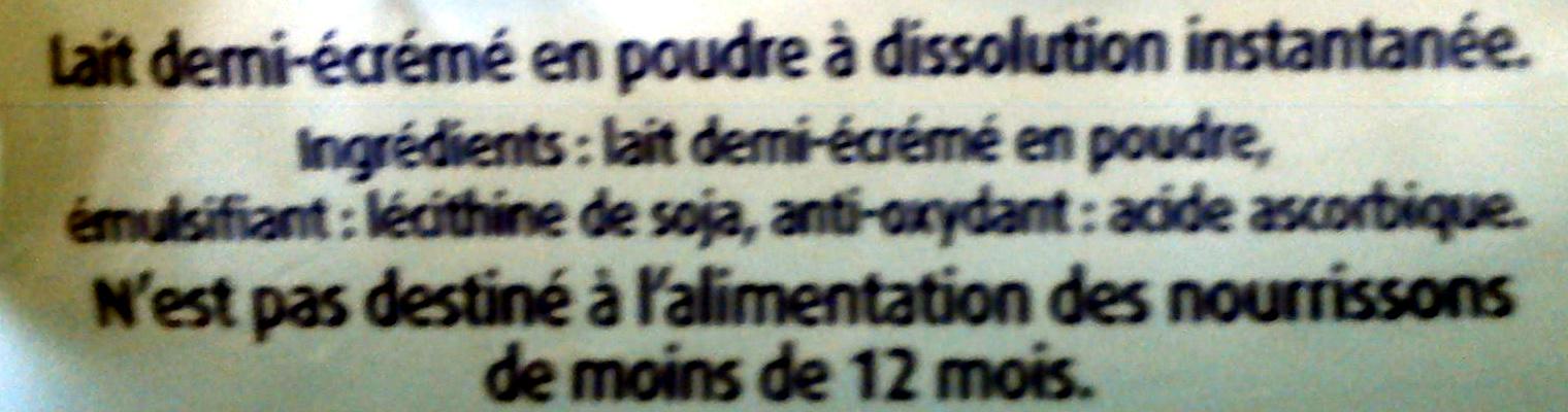 Mon Lait en Poudre Demi-Écrémé - Ingrediënten - fr