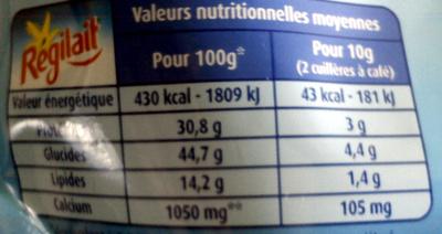 Mon Lait en Poudre Demi-Écrémé - Voedingswaarden - fr