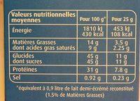 Lait en poudre demi-écrémé - Voedingswaarden - fr