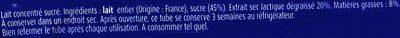 lait concentré sucré, format économique - Ingrédients - fr