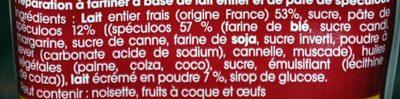 Tube Tartines & Desserts Confiture de Lait Touche de Spéculoos - Ingredients