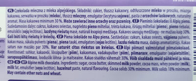 Alpenmilch Chocolate - Ingredients