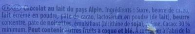 Au Lait du Pays Alpin (lot de 3) - Ingrediënten - fr
