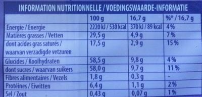 Au Lait du Pays Alpin (lot de 3) - Voedingswaarden - fr