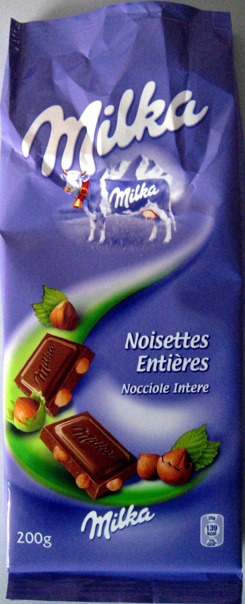 Chocolat Noisettes entières - Product