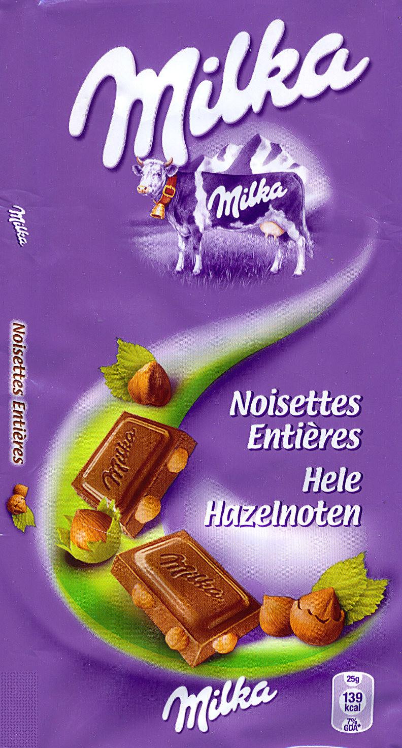 Milka Ganze Nuss - نتاج