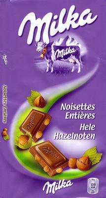 Chocolat Noisettes entières - Produit - fr