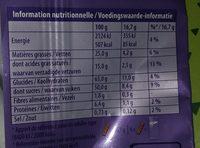 Chocolat Milka / Riz croustillant - Voedingswaarden - fr