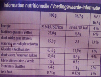 Chocolat Milka / Riz croustillant - حقائق غذائية - fr