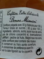 Confiture abricots - Ingredients