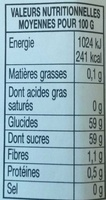 Confiture abricots - Nutrition facts