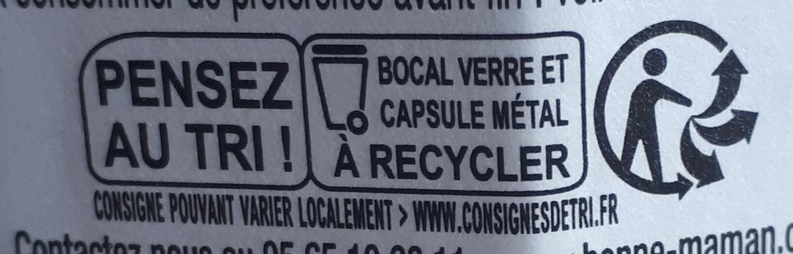 Confiture Framboises - Istruzioni per il riciclaggio e/o informazioni sull'imballaggio - fr