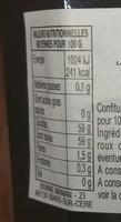 Confiture Bonne Maman Myrtilles Sauvages - Nutrition facts