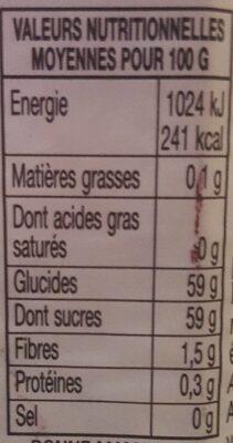 confiture myrtilles - Valori nutrizionali - fr