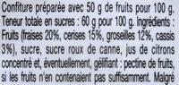 Confiture quatre fruits - Ingredienti - fr
