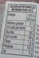 Confiture quatre fruits - Valori nutrizionali - fr