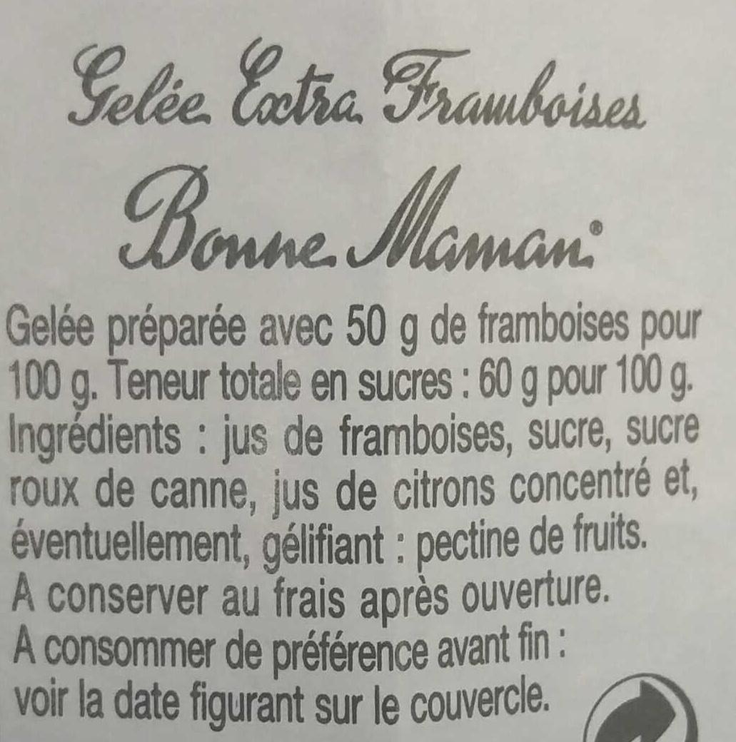 Framboises - Ingrediënten - fr