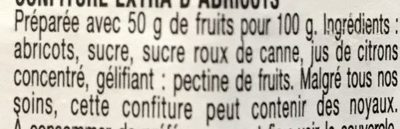 Confiture abricot - Ingredienti - fr