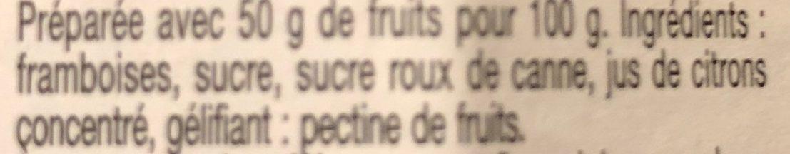 confiture framboises - Ingredienti - fr