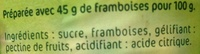 Confiture Extra Framboises - Ingredienti - fr