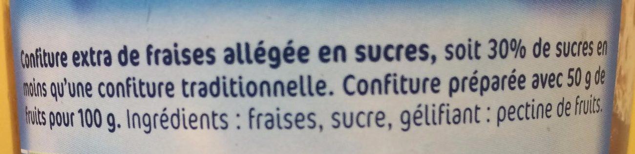 Confiture Allégée Fraises - Ingrediënten