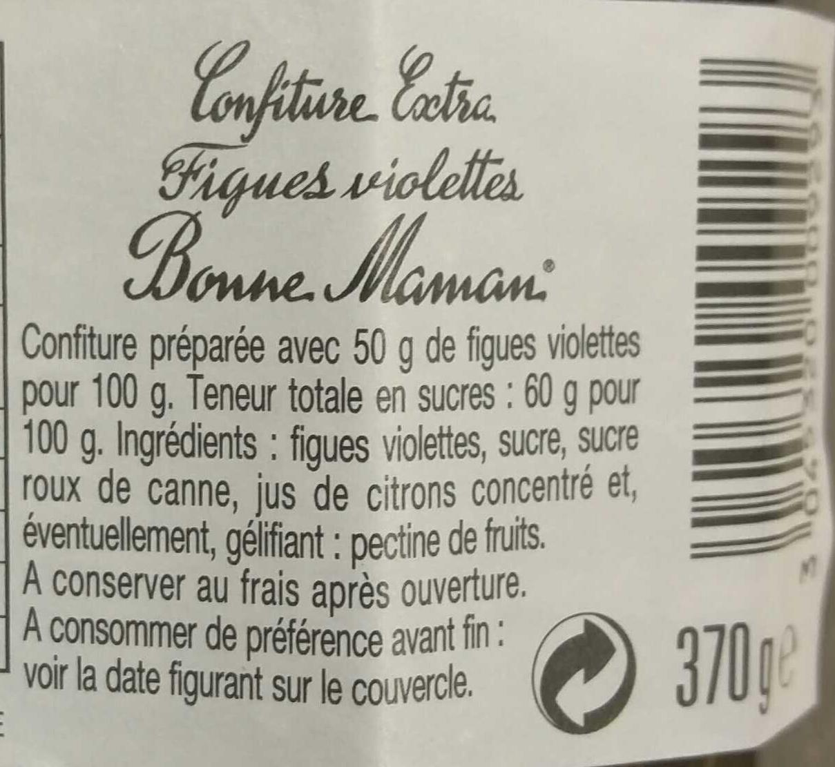 confiture figues violette - Ingredienti - fr