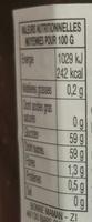 confiture figues violette - Valori nutrizionali - fr