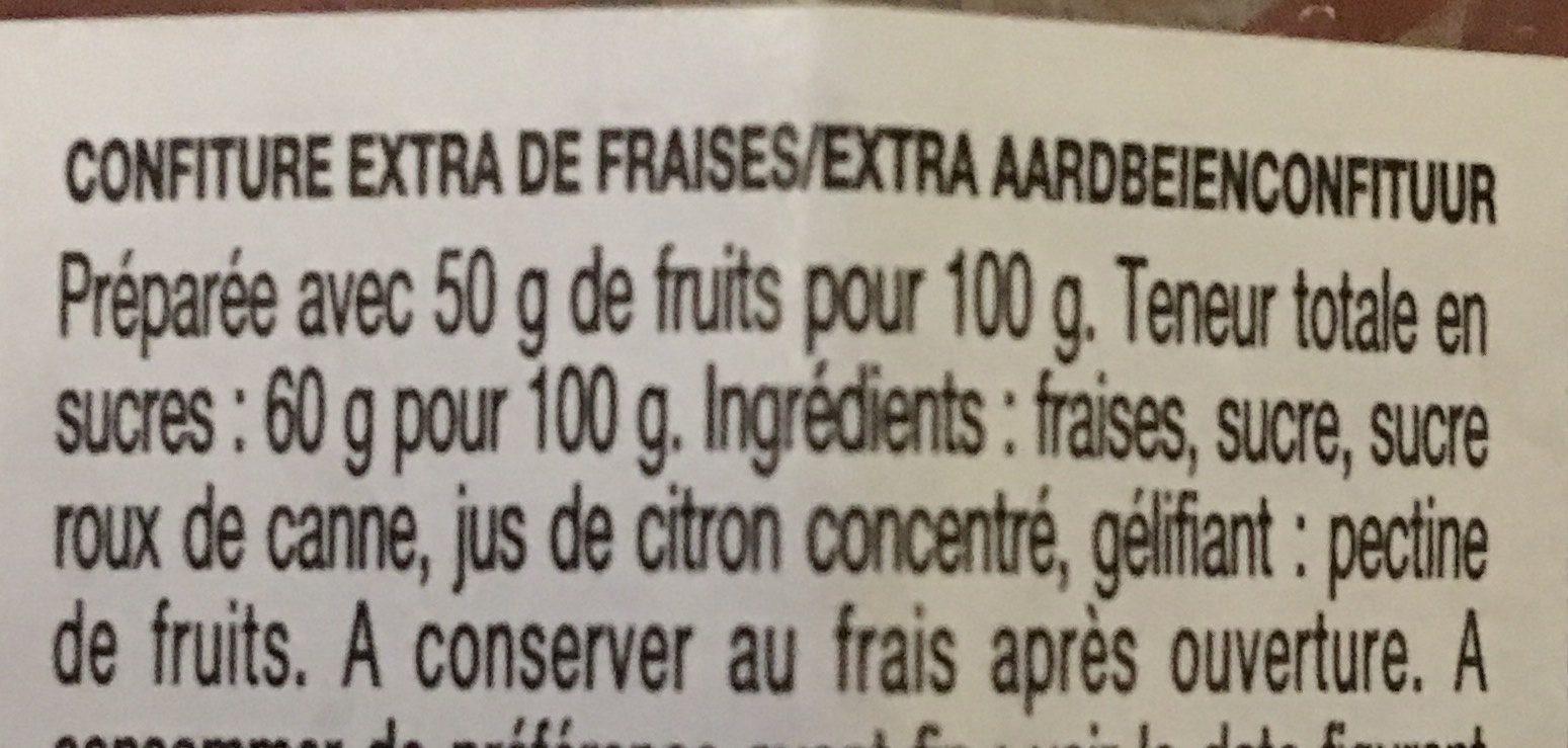 Confiture Fraises - Ingrediënten - fr