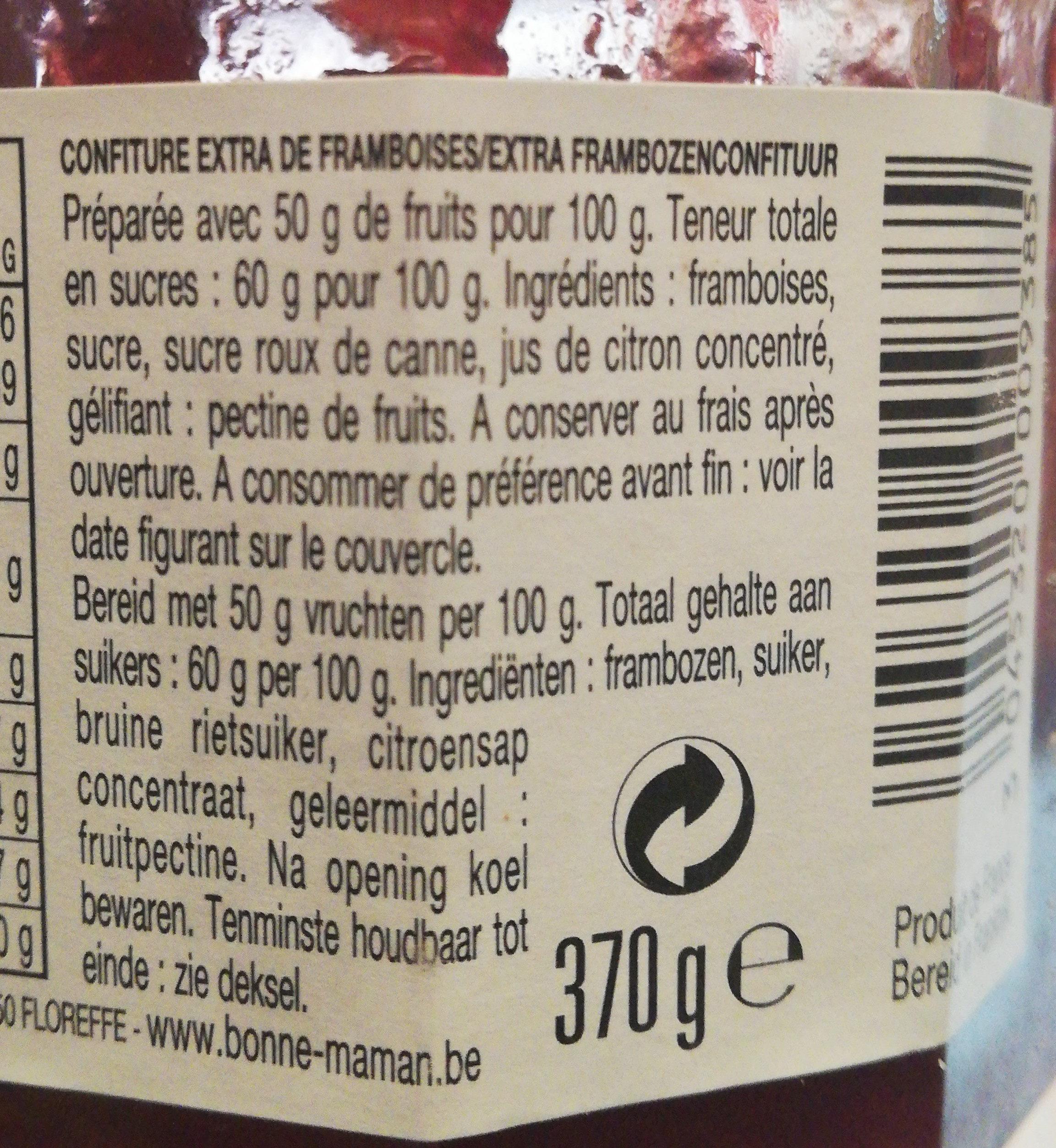 Confiture de Framboises - Ingrediënten - fr