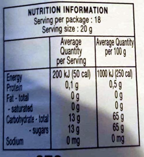 Cherry conserve - Nutrition facts - en