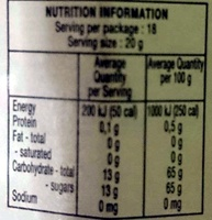 Peach Conserve - Nutrition facts - en
