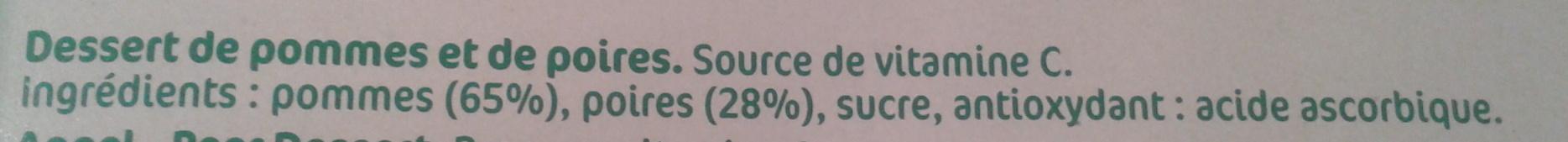 Pomme Poire - Ingrediënten