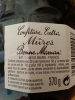 confiture mures - Ingredienti - fr