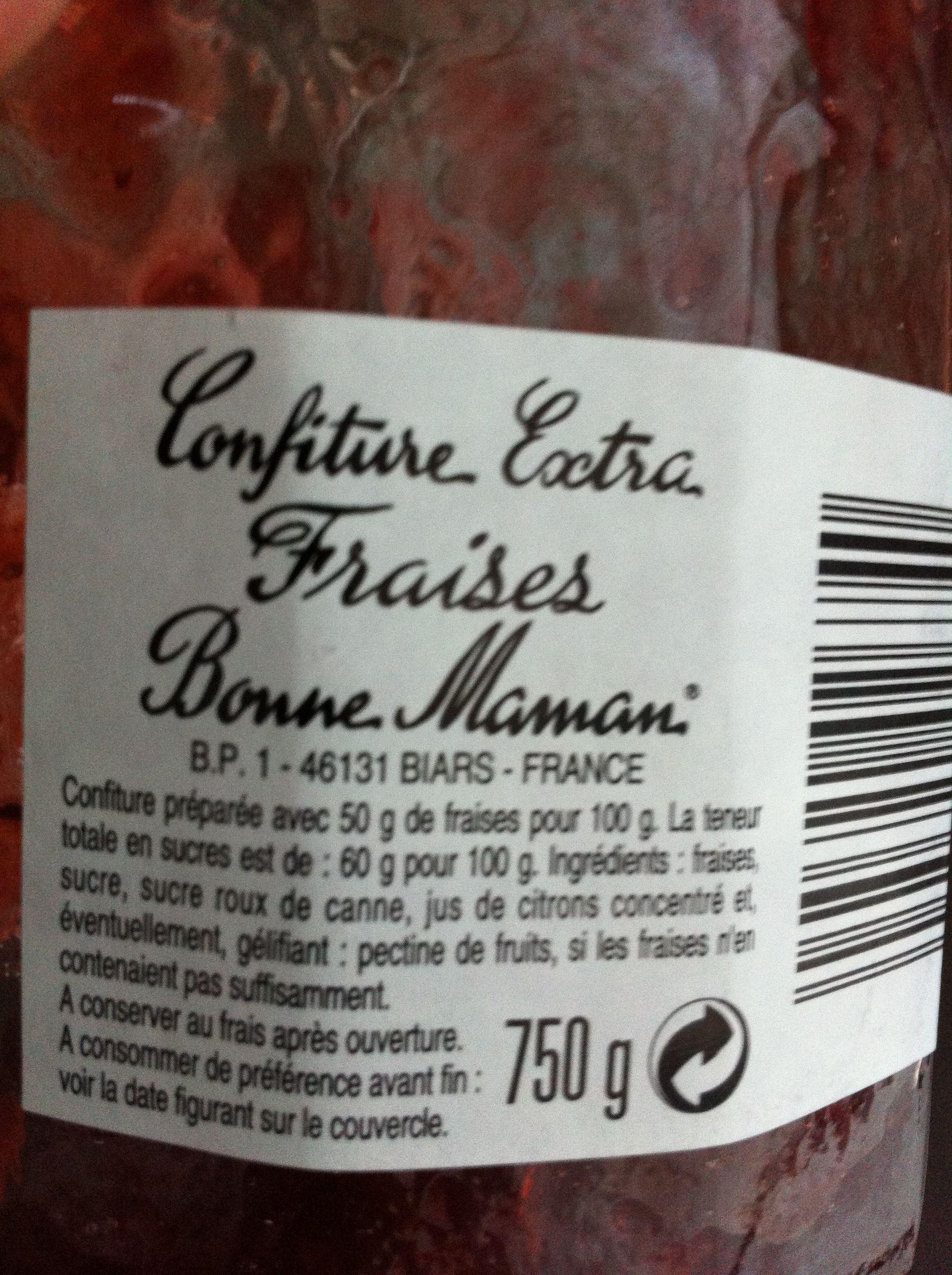 Préférence Confiture extra fraises - Bonne Maman - 750 g UE34