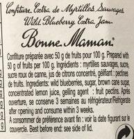 Confiture myrtilles sauvages - Ingrédients - fr